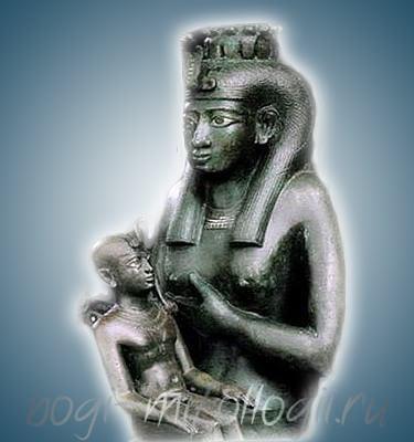Гор на коленях Исиды